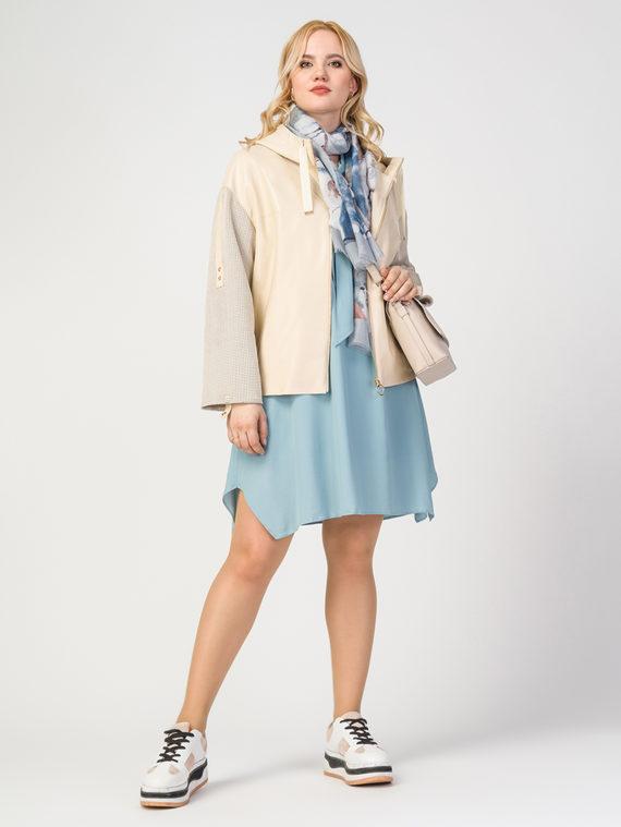 Кожаная куртка эко-кожа 100% П/А, цвет бежевый, арт. 01108121  - цена 5290 руб.  - магазин TOTOGROUP