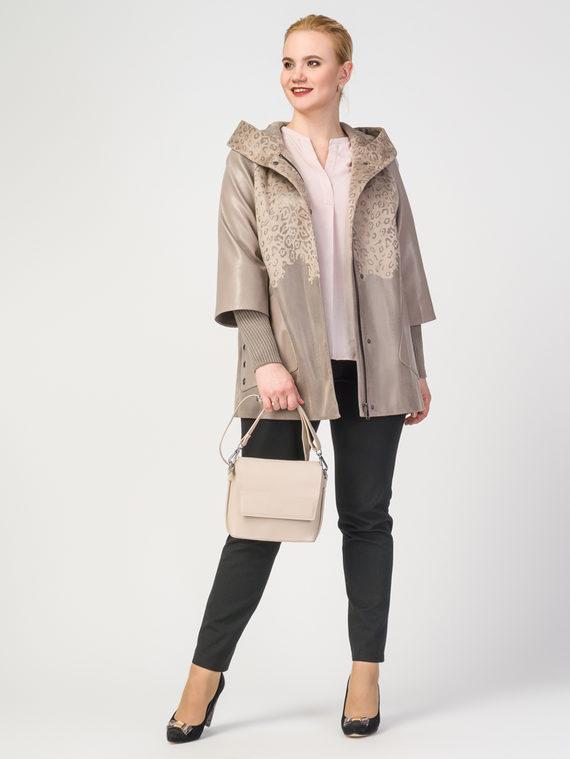 Кожаная куртка эко-замша 100% П/А, цвет бежевый, арт. 01108123  - цена 6290 руб.  - магазин TOTOGROUP