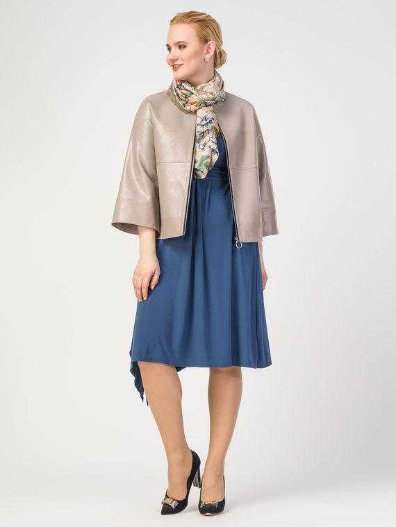Кожаная куртка эко-кожа 100% П/А, цвет бежевый, арт. 01108145  - цена 6630 руб.  - магазин TOTOGROUP