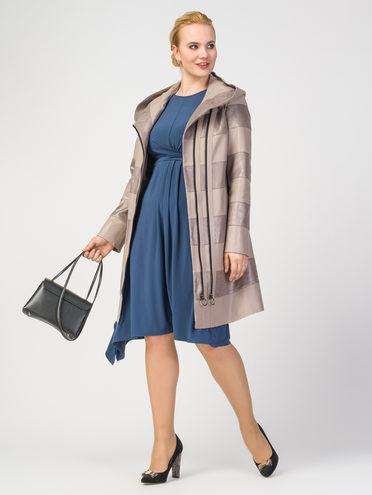 Кожаное пальто эко-кожа 100% П/А, цвет бежевый, арт. 01108169  - цена 5590 руб.  - магазин TOTOGROUP