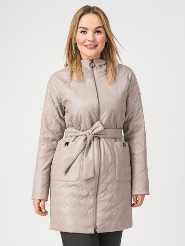 Кожаное пальто эко-кожа 100% П/А, цвет бежевый, арт. 01108175  - цена 4990 руб.  - магазин TOTOGROUP