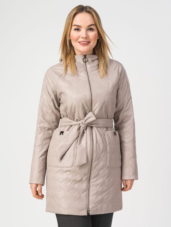 Кожаное пальто эко-кожа 100% П/А, цвет бежевый, арт. 01108175  - цена 6990 руб.  - магазин TOTOGROUP
