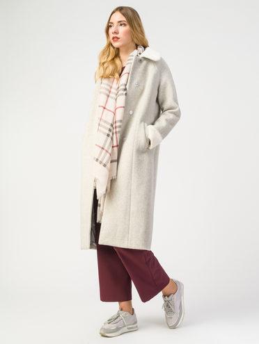 Текстильное пальто 30%шерсть, 70% п.э, цвет светло-бежевый, арт. 01108188  - цена 3990 руб.  - магазин TOTOGROUP