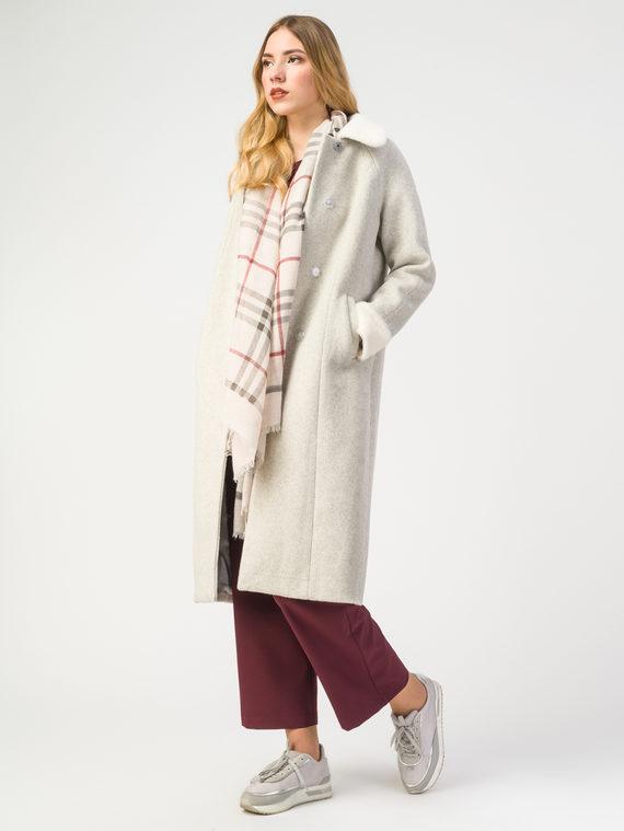 Текстильное пальто 30%шерсть, 70% п.э, цвет светло-бежевый, арт. 01108188  - цена 6290 руб.  - магазин TOTOGROUP