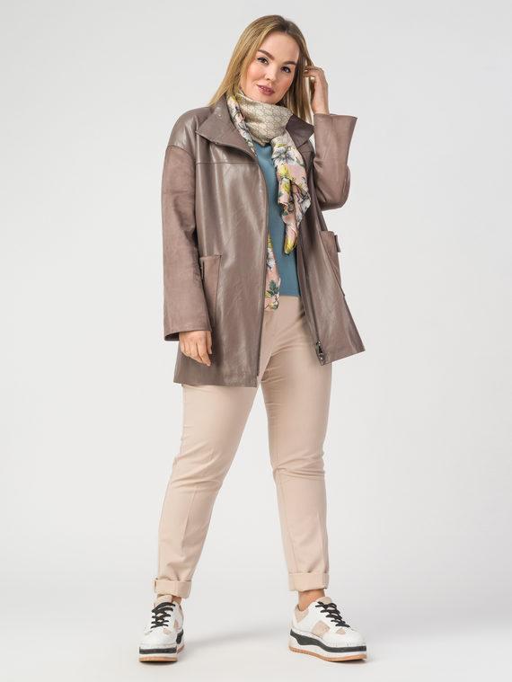 Кожаная куртка эко-кожа 100% П/А, цвет бежевый, арт. 01108200  - цена 6630 руб.  - магазин TOTOGROUP