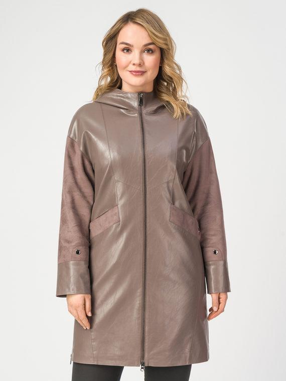 Кожаное пальто эко-кожа 100% П/А, цвет светло-коричневый, арт. 01108202  - цена 6630 руб.  - магазин TOTOGROUP