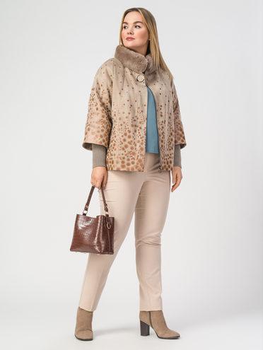 Кожаная куртка эко-замша 100% П/А, цвет бежевый, арт. 01108301  - цена 6290 руб.  - магазин TOTOGROUP