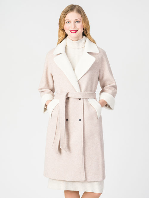 Текстильное пальто артикул 01108373/40 - фото 2
