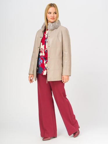 Кожаная куртка эко-кожа 100% П/А, цвет бежевый, арт. 01108842  - цена 8990 руб.  - магазин TOTOGROUP