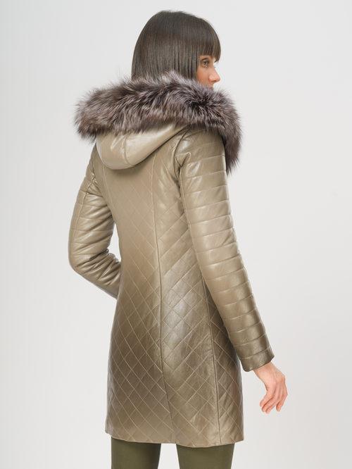 Кожаное пальто артикул 01108850/44 - фото 3