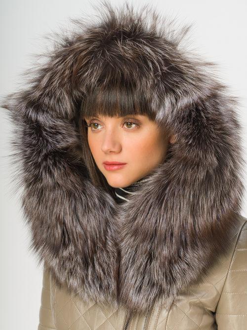 Кожаное пальто артикул 01108850/44 - фото 4