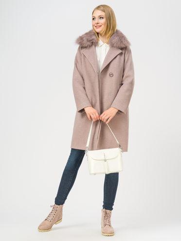 Текстильное пальто 35% шерсть, 65% полиэстер, цвет бежевый, арт. 01109202  - цена 5890 руб.  - магазин TOTOGROUP