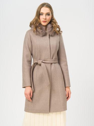 Текстильное пальто 35% шерсть, 65% полиэстер, цвет бежевый, арт. 01109205  - цена 5590 руб.  - магазин TOTOGROUP