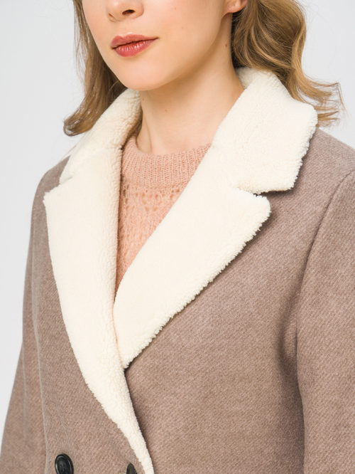 Текстильное пальто артикул 01109247/50 - фото 4