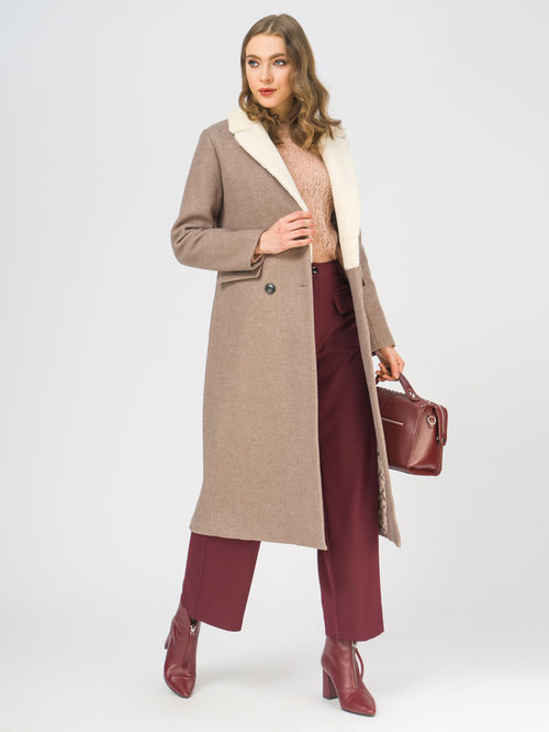 Текстильное пальто артикул 01109247/50