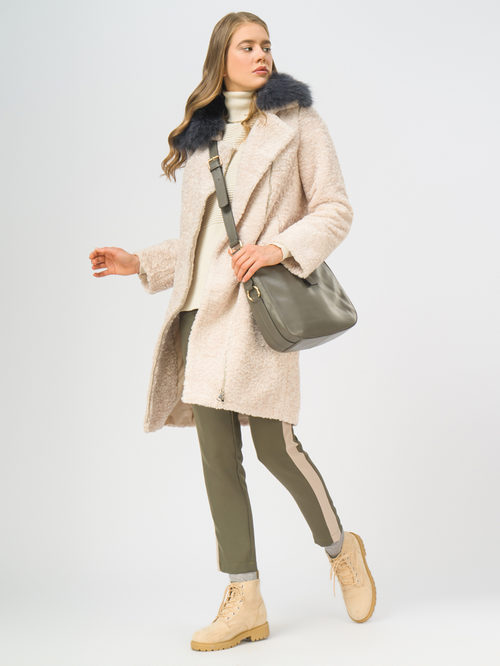 Текстильное пальто артикул 01109309/42 - фото 2