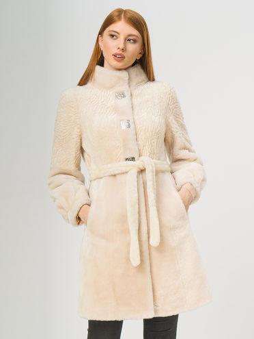 Шуба мех овчина крашен., цвет бежевый, арт. 01109319  - цена 14990 руб.  - магазин TOTOGROUP