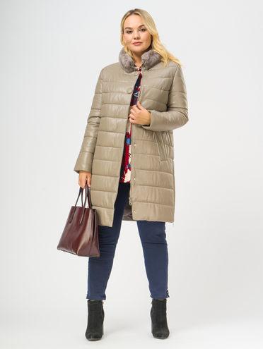 Кожаное пальто кожа, цвет бежевый, арт. 01109365  - цена 19990 руб.  - магазин TOTOGROUP