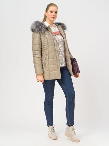 Кожаная куртка кожа , цвет бежевый, арт. 01109367  - цена 22690 руб.  - магазин TOTOGROUP