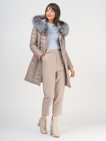 Кожаное пальто эко-кожа 100% П/А, цвет бежевый, арт. 01109714  - цена 10590 руб.  - магазин TOTOGROUP