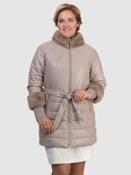 Кожаное пальто артикул 01601941/48 - фото 2