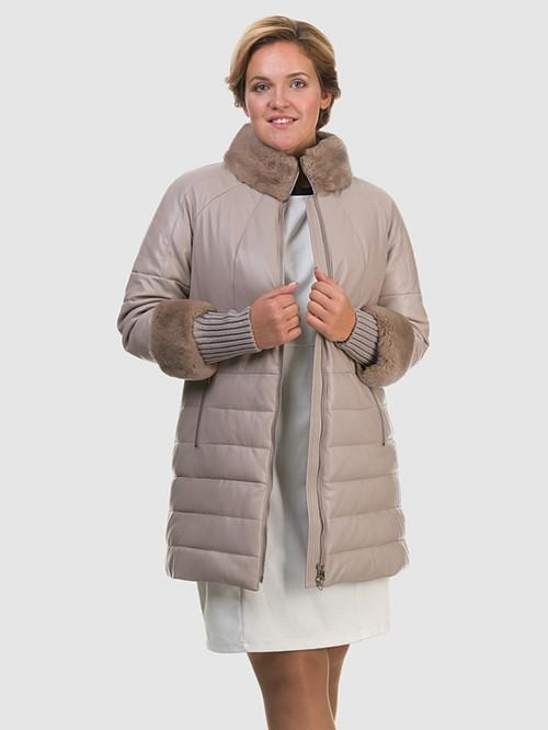 Кожаное пальто артикул 01601941/48 - фото 3