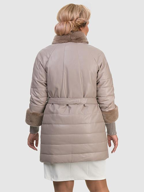 Кожаное пальто артикул 01601941/48 - фото 4