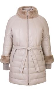 Кожаное пальто артикул 01601941/48 - фото 5