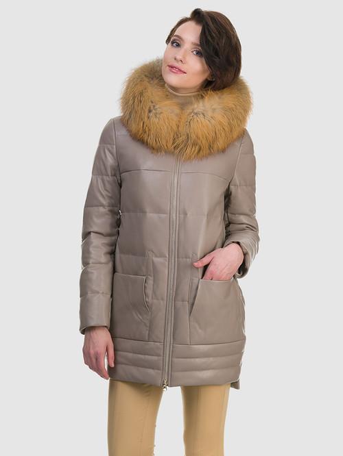 Кожаное пальто артикул 01601943/44 - фото 2