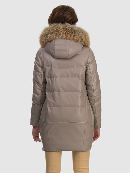 Кожаное пальто артикул 01601943/44 - фото 3