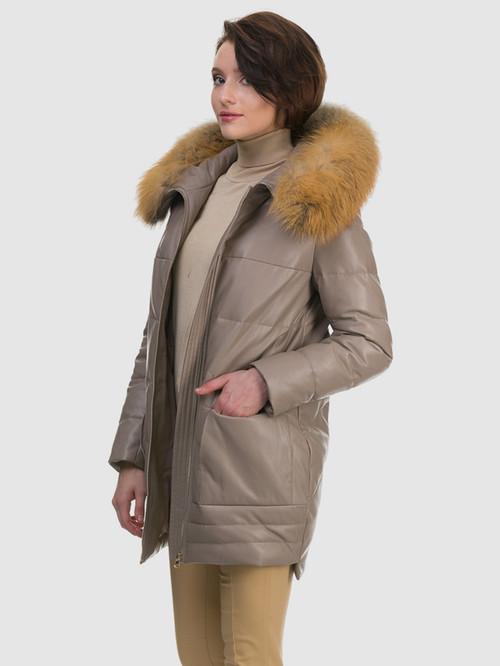 Кожаное пальто артикул 01601943/44 - фото 4
