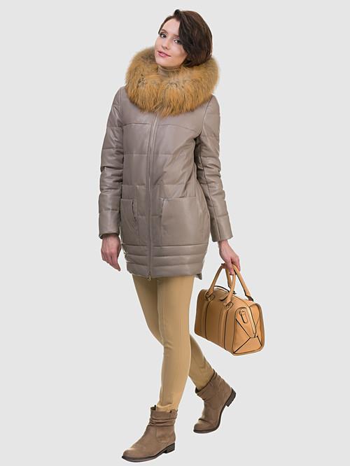 Кожаное пальто артикул 01601943/44