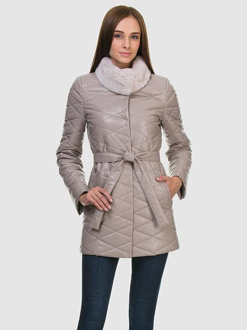 Кожаное пальто артикул 01602236/42 - фото 2