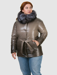Кожаная куртка артикул 01602337/46 - фото 2