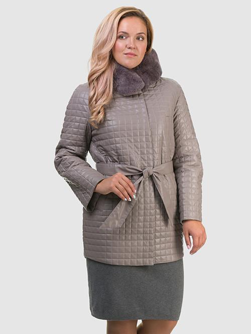 Кожаное пальто артикул 01602455/48 - фото 2