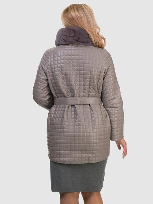 Кожаное пальто артикул 01602455/48 - фото 3