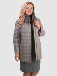 Кожаное пальто артикул 01602455/48 - фото 4