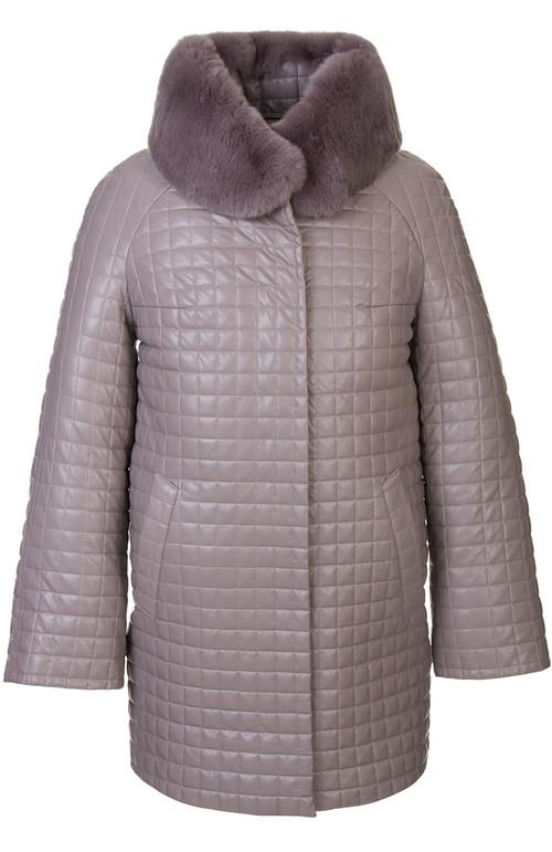 Кожаное пальто артикул 01602455/48 - фото 5