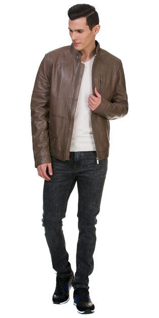 Кожаная куртка кожа овца, цвет бежевый, арт. 01700058  - цена 15990 руб.  - магазин TOTOGROUP
