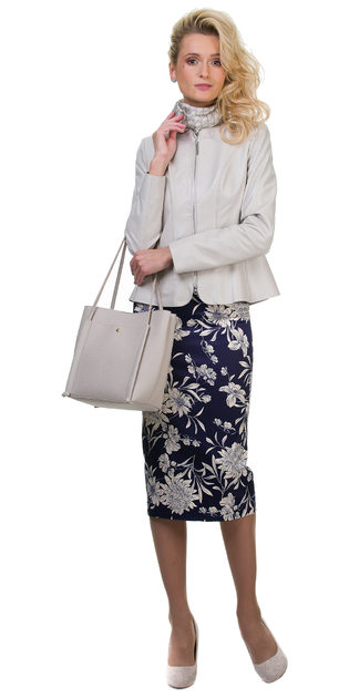 Кожаная куртка кожа овца, цвет светло-серый, арт. 01700116  - цена 12990 руб.  - магазин TOTOGROUP
