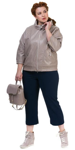 Кожаная куртка эко кожа 100% П/А, цвет бежевый, арт. 01700117  - цена 4490 руб.  - магазин TOTOGROUP