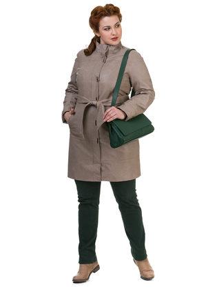 Кожаное пальто эко кожа 100% П/А, цвет бежевый, арт. 01700119  - цена 8490 руб.  - магазин TOTOGROUP