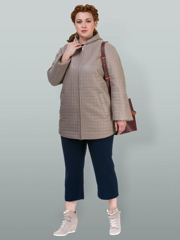 Кожаное пальто кожа , цвет бежевый, арт. 01700131  - цена 11990 руб.  - магазин TOTOGROUP
