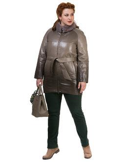 Кожаное пальто эко кожа 100% П/А, цвет бежевый, арт. 01700133  - цена 7990 руб.  - магазин TOTOGROUP
