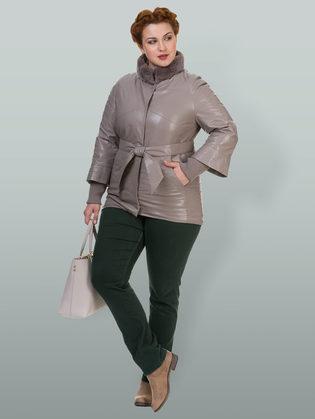 Кожаная куртка эко кожа 100% П/А, цвет бежевый, арт. 01700136  - цена 8990 руб.  - магазин TOTOGROUP