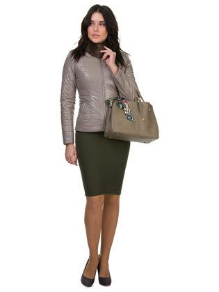 Кожаная куртка эко кожа 100% П/А, цвет бежевый, арт. 01700156  - цена 7990 руб.  - магазин TOTOGROUP