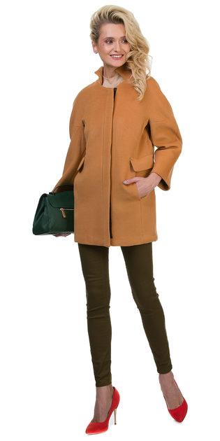Текстильное пальто 30%шерсть, 70% п\а, цвет бежевый, арт. 01700397  - цена 2691 руб.  - магазин TOTOGROUP