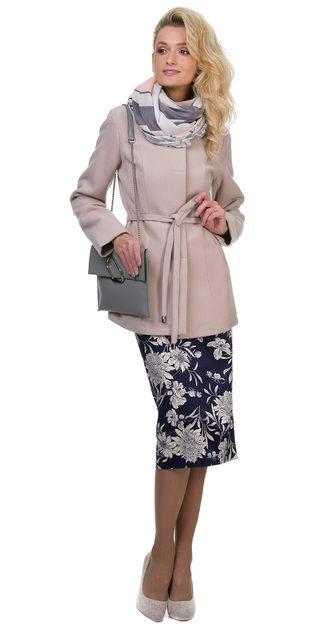Текстильное пальто 30%шерсть, 70% п\а, цвет бежевый, арт. 01700402  - цена 2793 руб.  - магазин TOTOGROUP