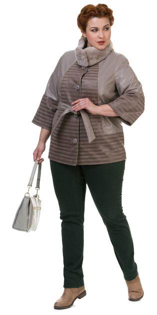 Кожаная куртка эко кожа 100% П/А, цвет бежевый, арт. 01700436  - цена 6990 руб.  - магазин TOTOGROUP