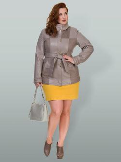 Кожаная куртка эко кожа 100% П/А, цвет бежевый, арт. 01700439  - цена 6990 руб.  - магазин TOTOGROUP